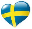 Heart Sweden vector