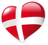 Heart Danmark vector poster