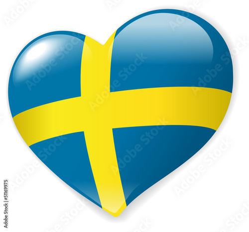 Heart Sweden vector