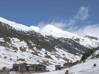 paisaje alta montaña nevado