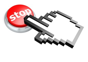 Stop button with hand cursor