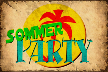 Retroplakat - Sommerparty