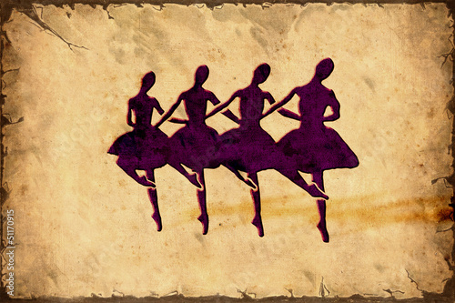 Foto op Canvas Vintage Poster Retroplakat - Ballerinas