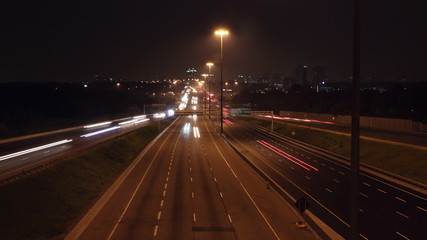 401 Highway timelapse. Wide.