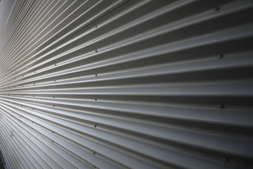 corrugated iron wall