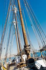 Old Schooner mast and Rope