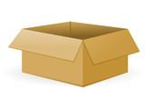 Open Cardboard Package
