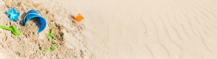 bannière vacances à la plage