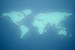 Worldmap made of green glass 3D