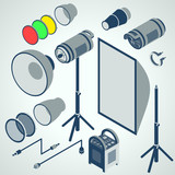 flash studio professional strobe element set