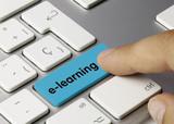 e-learning blau Keyboard key Finger