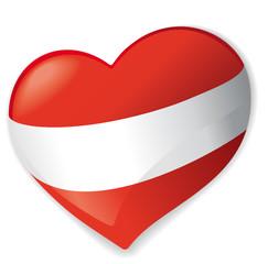 Herz Österreich vector
