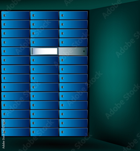 Security of bank deposits.Vector background