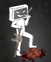 Fernsehn kämpft gegen Intelligenz