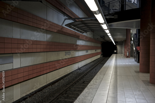 Ubahnstation menschenleer
