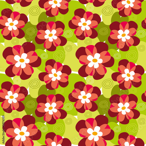 Seamless flower pattern of chamomile