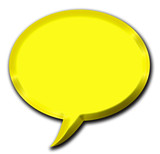 3d golden speech bubble illustration