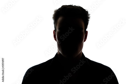Man figure in silhouette