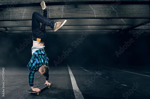 Handstand on a Skateboard
