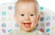 cheerful happy baby smiling