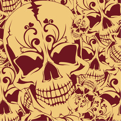 Seamless background with skull