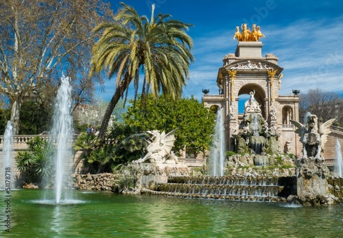 Fountain in a Parc de la Ciutadella, Barcelona