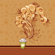 Seamless pastry and coffee waves concept