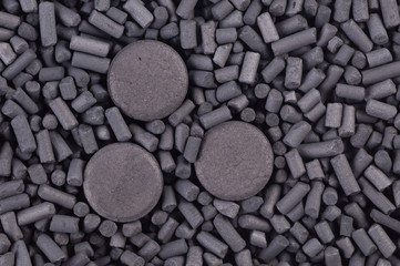 Activated carbon granules and tablets