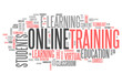 "Word Cloud ""Online Training"""