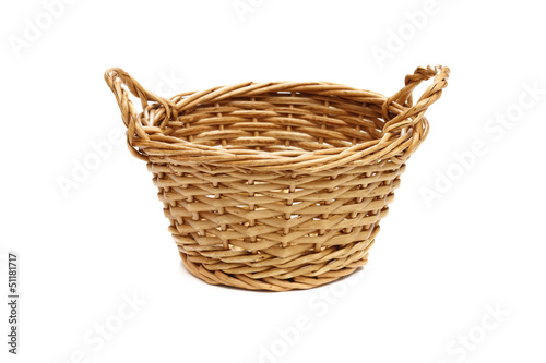 Empty basket on a white background.