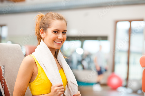 Fitness woman portrait