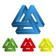 3d dreieck illusion