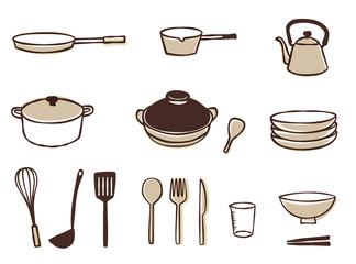 キッチン用品(手描き風)