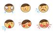 病気の表情