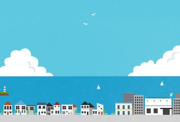 海の見える町