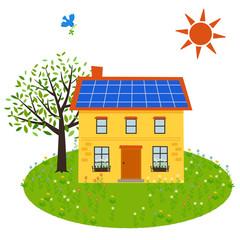 ソーラーパネルのお家