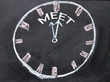 time for meet clock sign