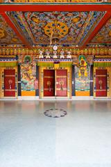 Rumtek Monastery Entrance Doors Ceiling V