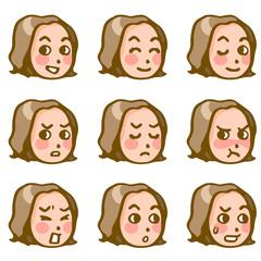 女性の表情