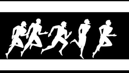The Greek figure - sportsmen runners plus alfa the channel