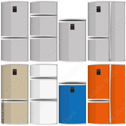 refrigerators vector