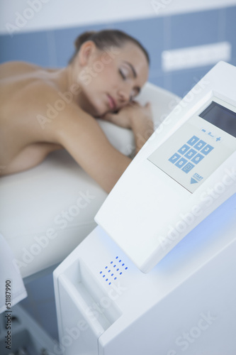 vacuum massage procedure in the medical center