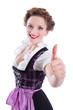 Bayerisches Mädchen freut sich auf die Wiesn/Oktoberfest