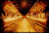 Retroplakat - Bahnhof