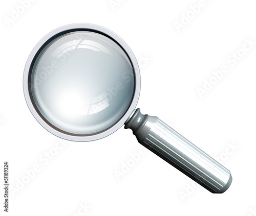 magnifying glass in metal