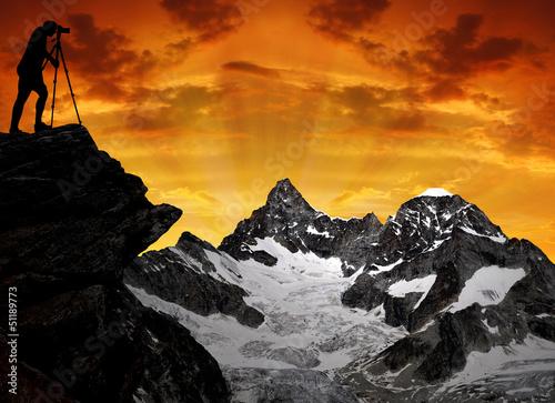photographer in Swiss Alps