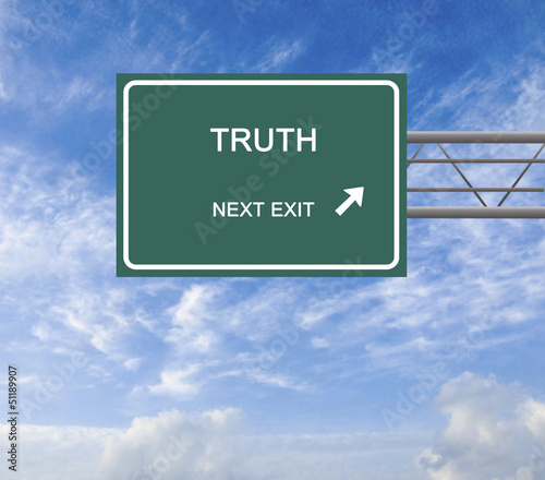 Road sign to truth