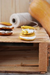 pumpkin whoopie cookie