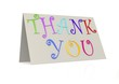 Thank you with folded paper