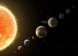 Fototapety Solar system. Elements of this image furnished by NASA
